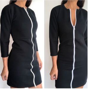 Kate Spade Saturday fitted zip front scuba dress
